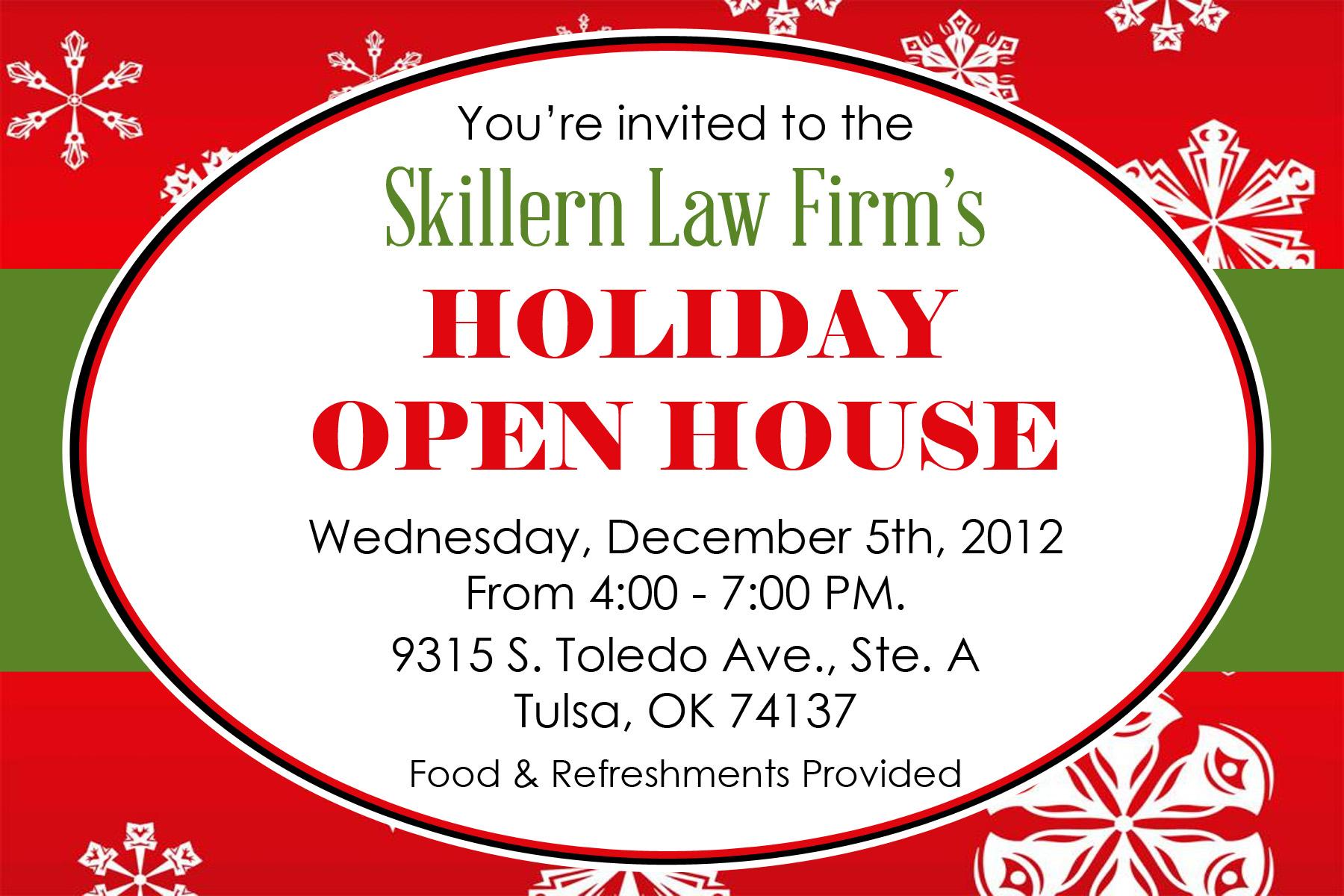 holiday open house  u00ab skillern law firm  pllc